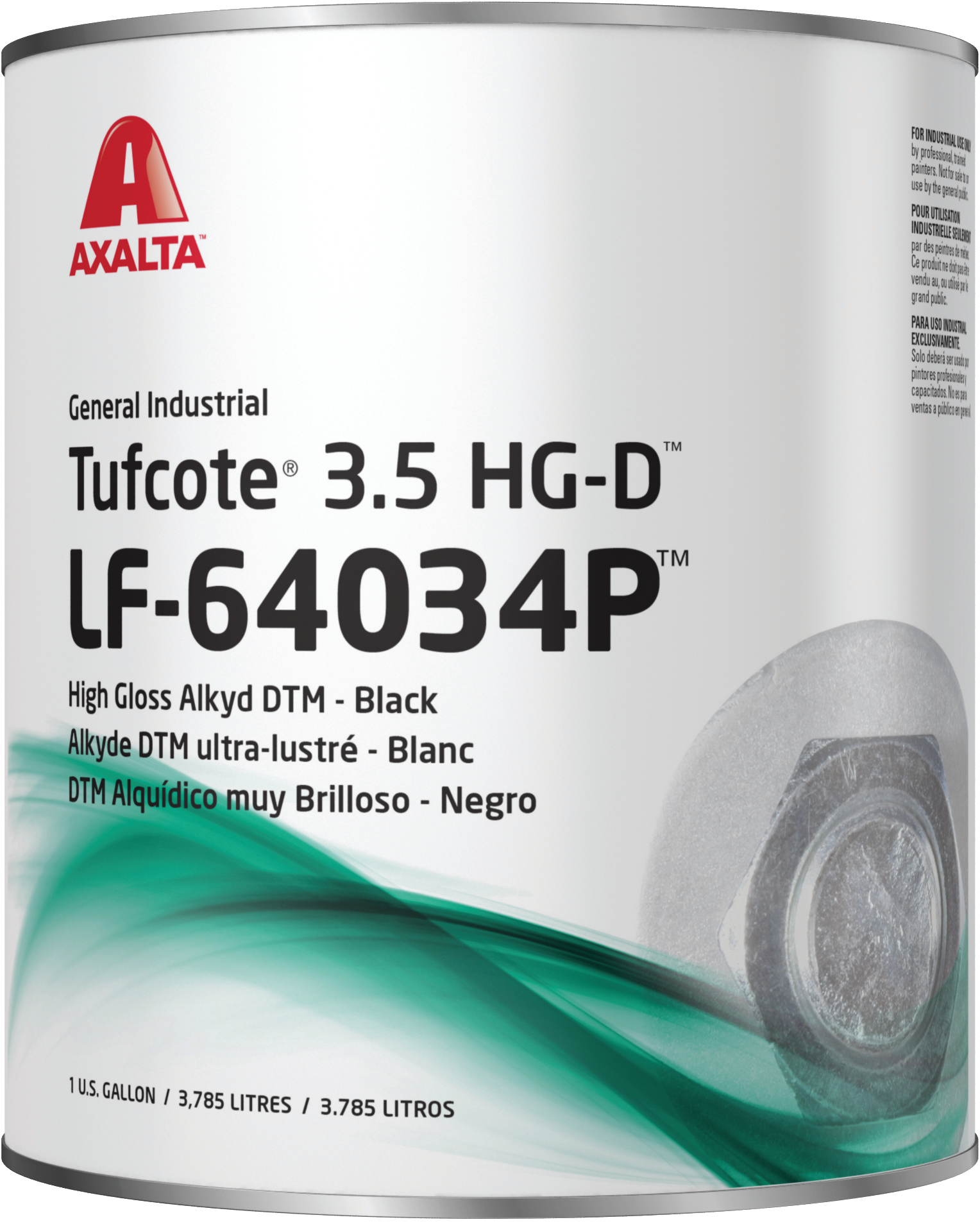 Dupont Industrial Tufcote 3 5 Hg Gallon Black