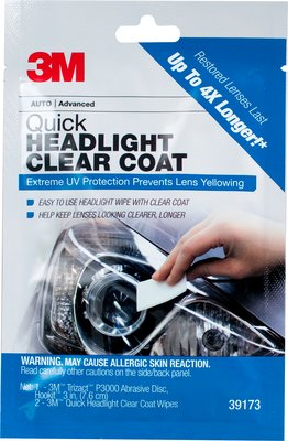 3m Quick Headlight Clear Coat Wipes 32516
