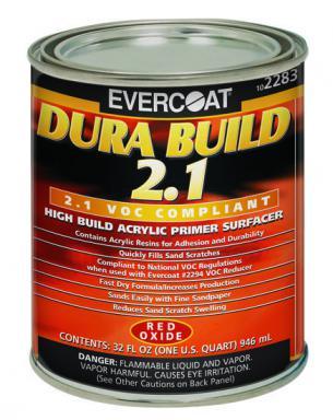 Evercoat Dura Build Acrylic Primer Red Oxide Quart 2283